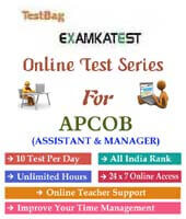 apcob assistant manager exam latest