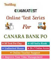canara bank po mock test
