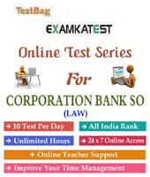 corporation bank so online test