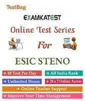 esic stenographer exam online test series