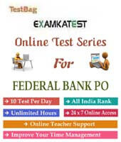 Federal bank po online test