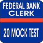 federal bank clerk mock test