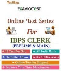 Ibps clerk online test series