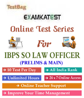 Ibps Crp So Law Officers Prelims And Main Exam 1 month