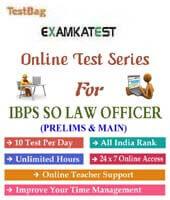 Ibps specialist law officer mock test