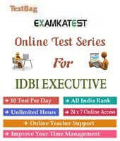 idbi bank executive online test series