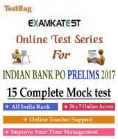 indian bank po prelim mock test