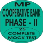 mp cooperative bank phase 2 mock test