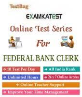 online mock test for federal bank