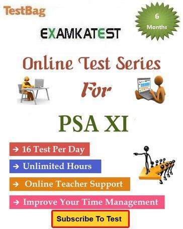 psa class 11 online test
