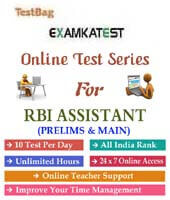 RBI Assistant exam mock test