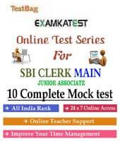 Sbi clerk mains mock test