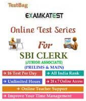 SBI Clerk Online Test Series