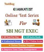 sbi management executive online test