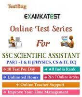 SSC Scientific Assistant online test series