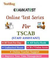 tscab staff assistant mock test